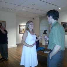 Rita Fucillo, Assoc Publisher Art New England with Matthew Swift Trident Gallery