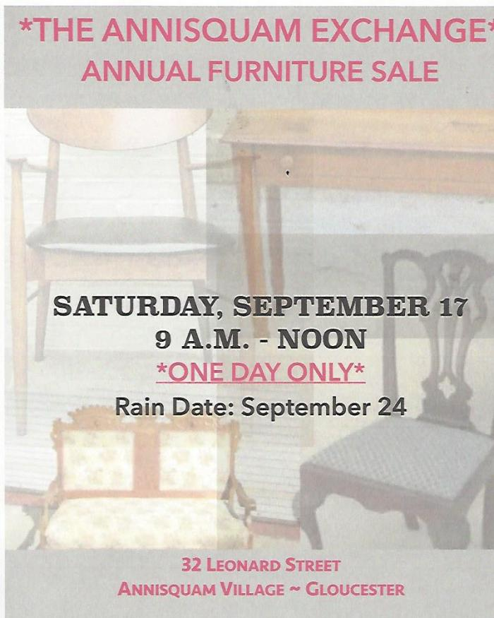 Annisquam Furniture Sale