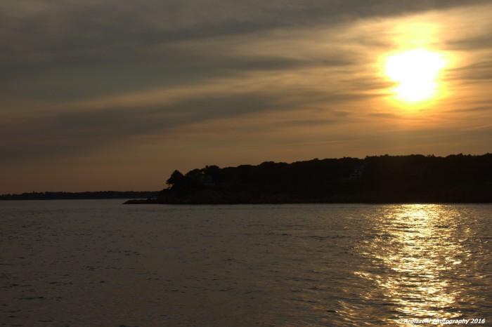 August 24, 2016 beginning of sunset over Magnolia Harbor