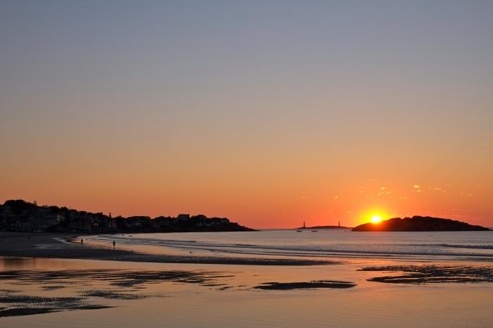 Good Harbor Beach sunrise August 9, 2016 copyright Kim Smith