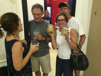 Kristen shares a beer! (free beer tonight, too)