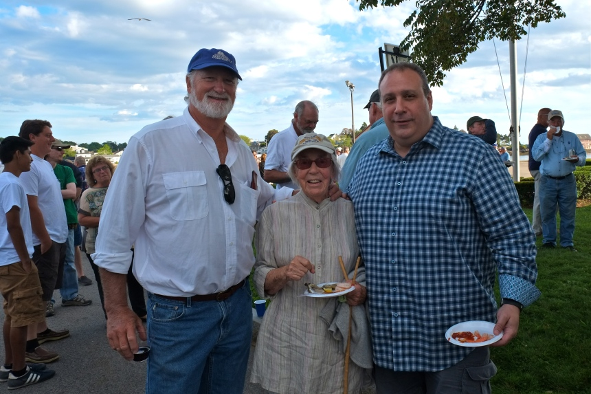 Schooner Festival Mayor's Reception Tom Ellis, Helen Garland, Chief Campanello copyright Kim Smith