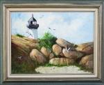 """#58 Theresa Wonson """"A Day on Ten Pound Island"""" Oil"""