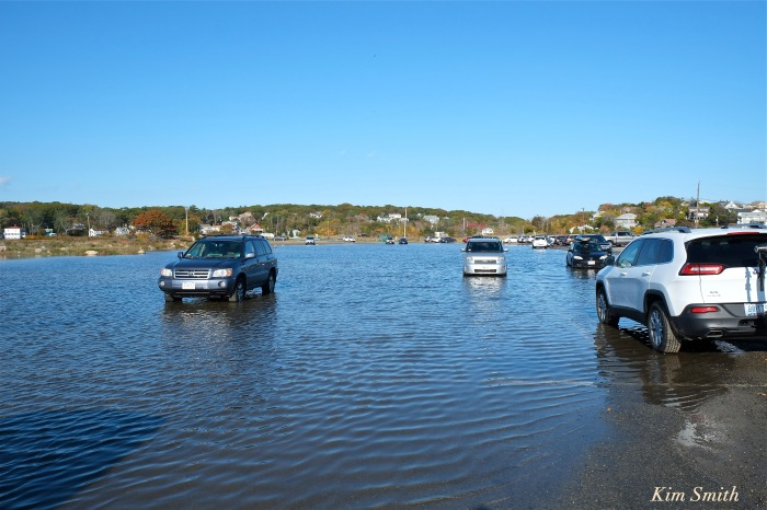 good-harbor-beach-parking-lot-flooded-copyright-kim-smith-10-19-2016