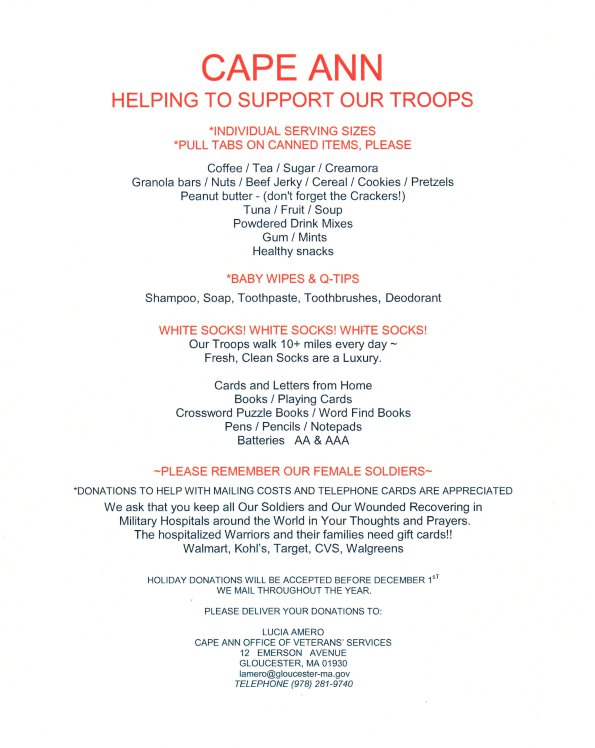 operation troop support goodmorninggloucester
