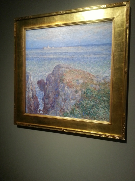 Childe Hassam, White Island Light, Isles of Shoals at Sundown, 1899, Smith (a 1973 gift of Mr. and Mrs. Hodgkinson (Laura White Cabot, class of 1922) ) Smith has a beauty.