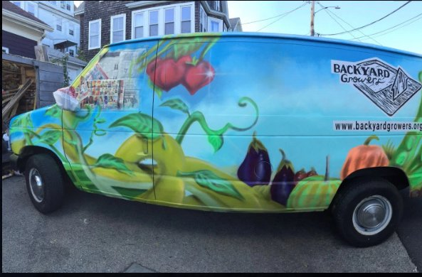 van mural, Danny Diamond commission for Backyard Growers