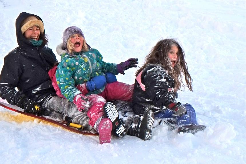 sledding-east-gloucester-kids-bass-rocks-meadow-and-sabine-1-copyright-kim-smith