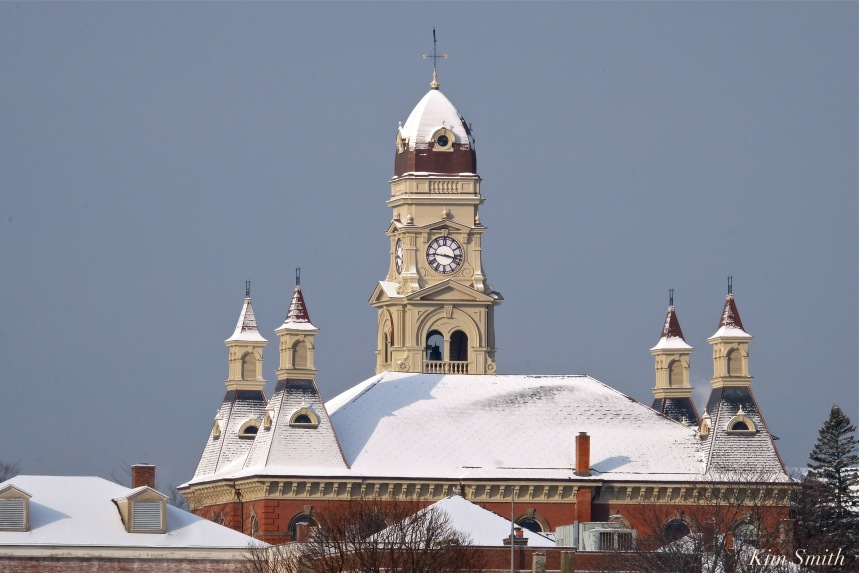 gloucester-harbor-city-hall-snowy-dusting-copyright-kim-smith