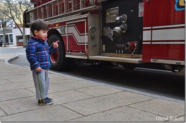 2017 3 31 Walks Chan 5 & Boy at Fire truck 057