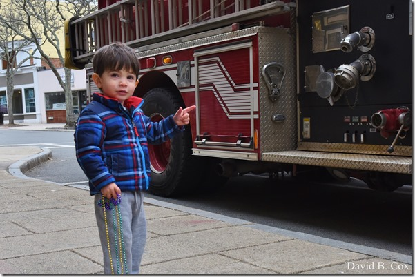 2017 3 31 Walks Chan 5 & Boy at Fire truck 060