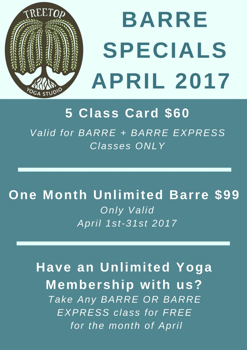 barre schedule april-2