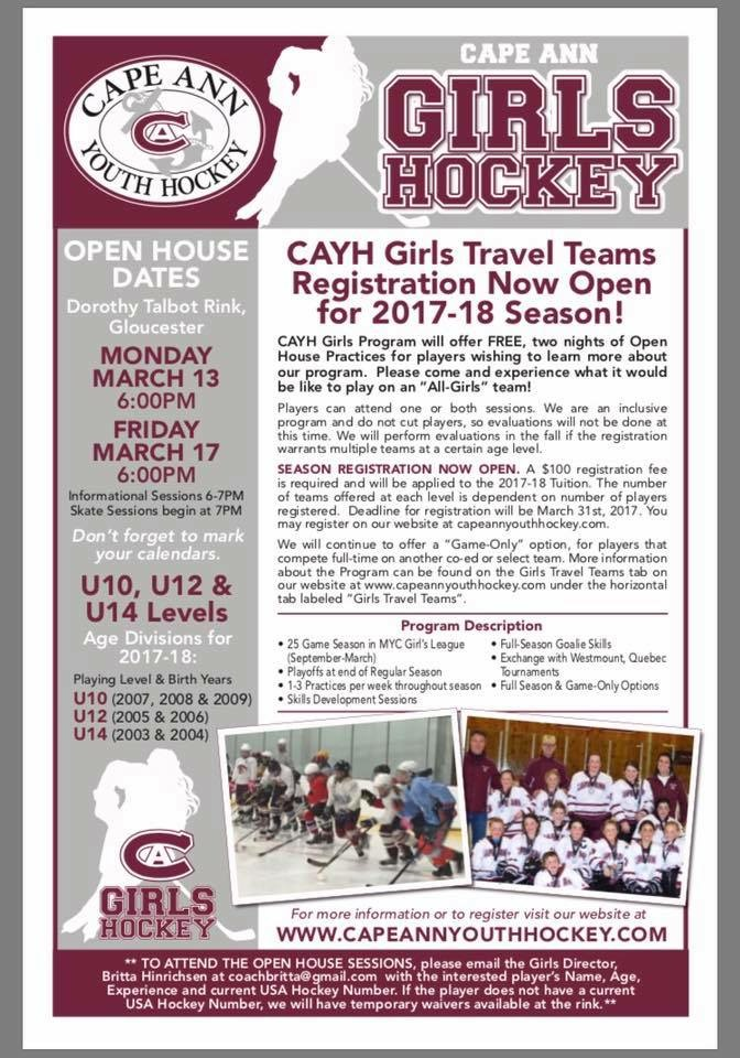 CAYH - Girls Flyer 2017-2018 Season from kristin
