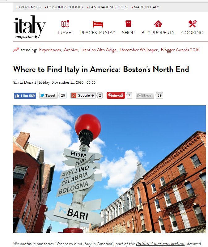 Where to find Italy in America - Boston's North End