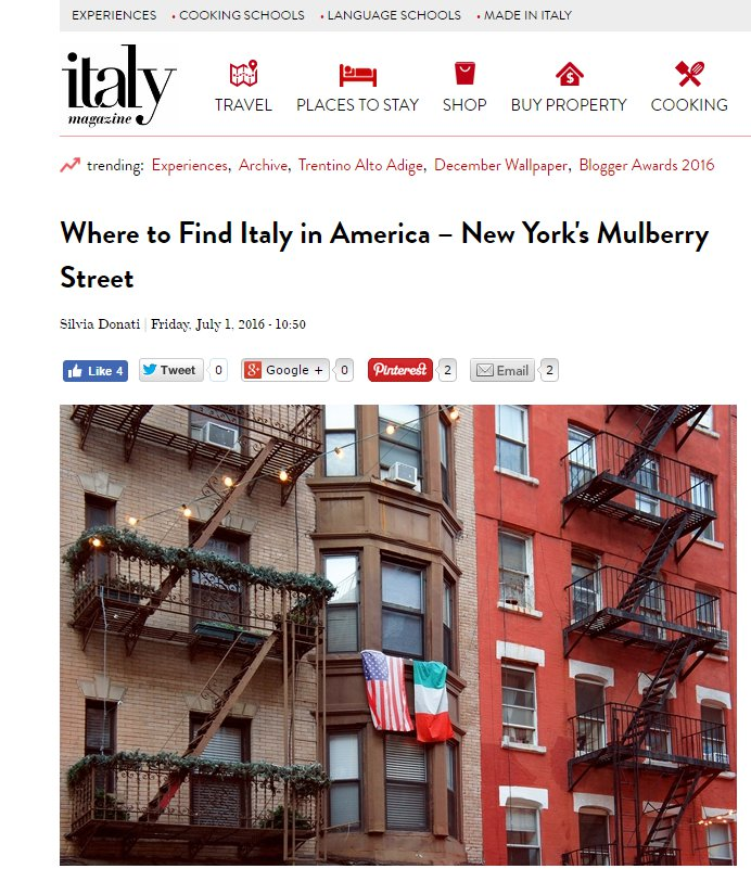 Where to find Italy in America-New York's Mulberry Street Part 1