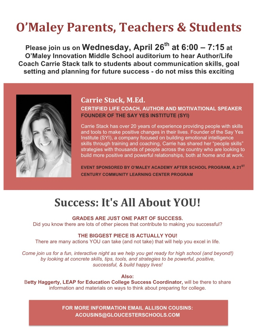 Carrie Stack Event Flyer 4.26.17