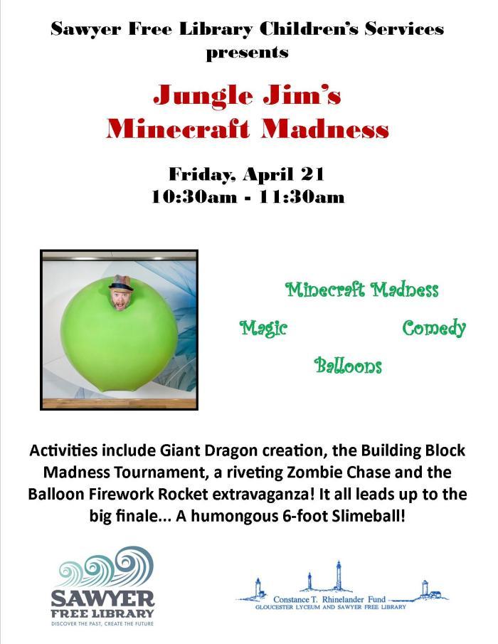 Jungle Jim Minecraft Flyer 2017