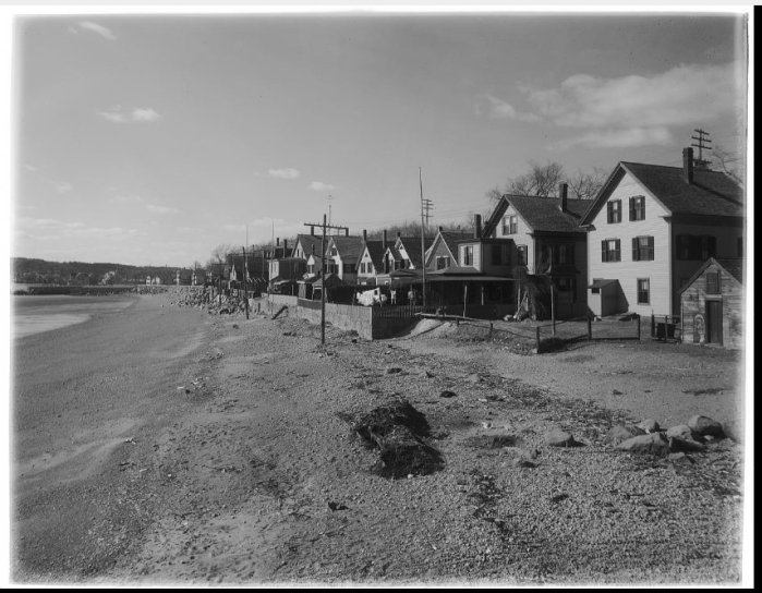 Thomas warren Sears glass negative houses along the beach later removed for the creation of Stacy Boulevard