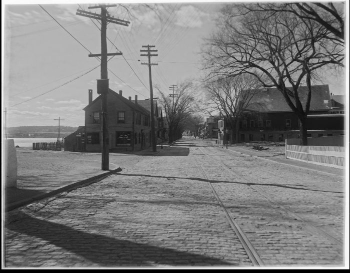 Thomas Warren Sears looking west along what would become stacy boulevard