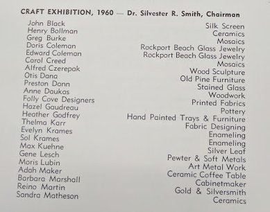 1960 craft exhibition