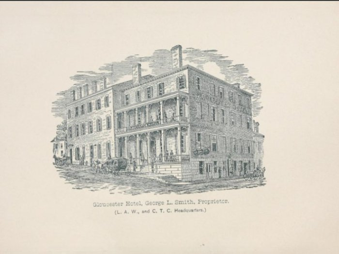 Gloucester Hotel 1885 Washington and Main