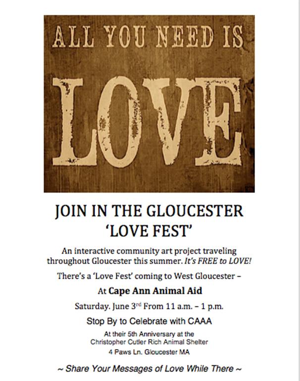 Love Fest at Cape Ann Animal Aid 6.3.17