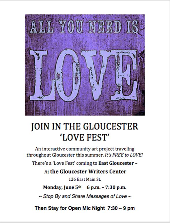 Love Fest Gloucester Writers Center 6.5.17