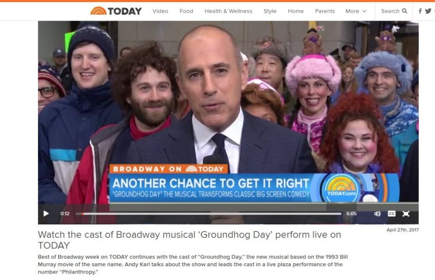 Today show groundhog day