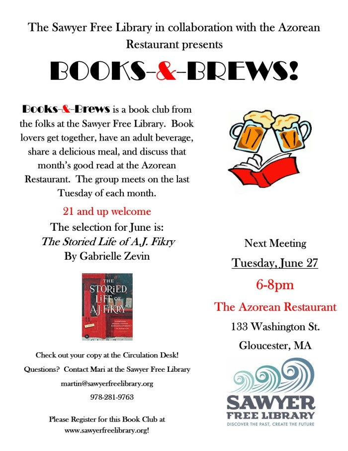Books and Brews June 2017 flyer