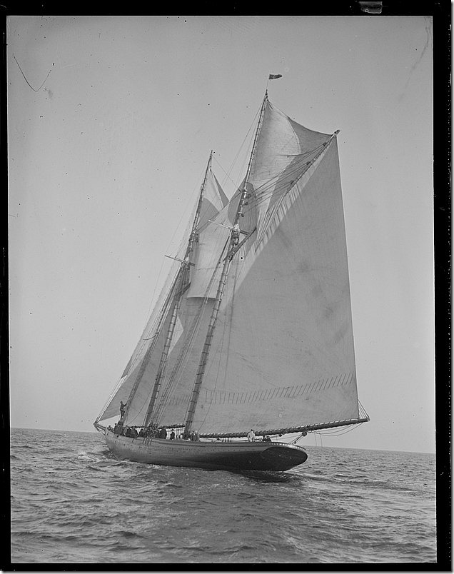 Columbia sailing for the banks, Leslie Jones