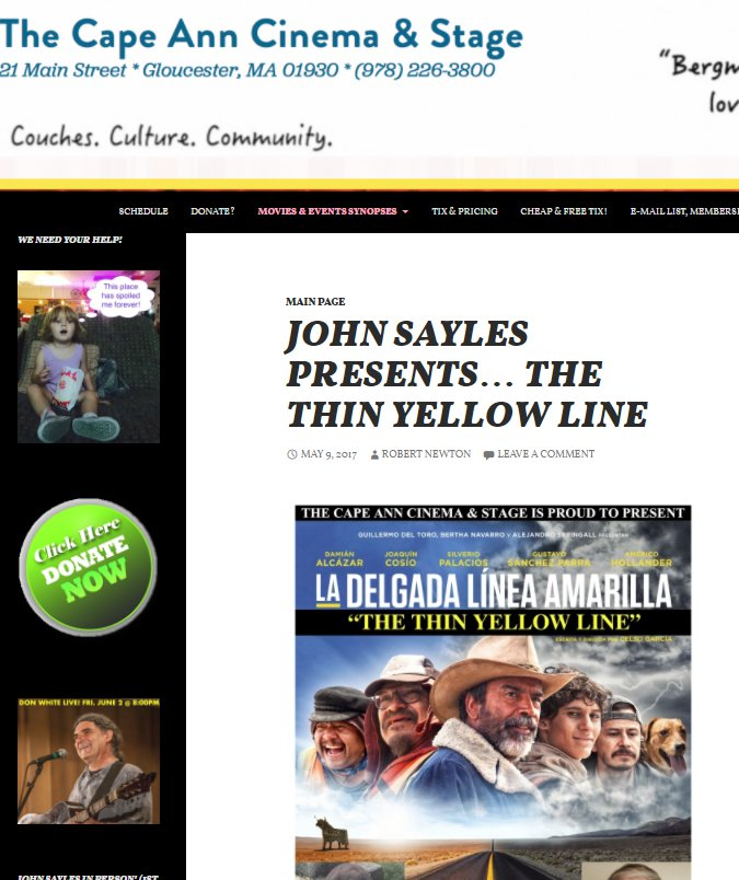 John Sayles The Thin Yellow Line