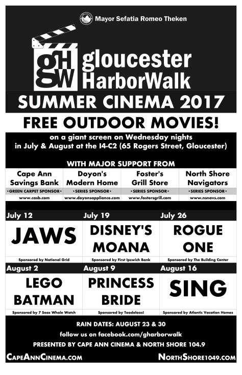 HarborWalk Summer Cinema 2017 poster