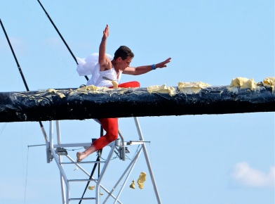 Saturday Greasy Pole 2017 -Frank Pacheco copyright Kim Smith