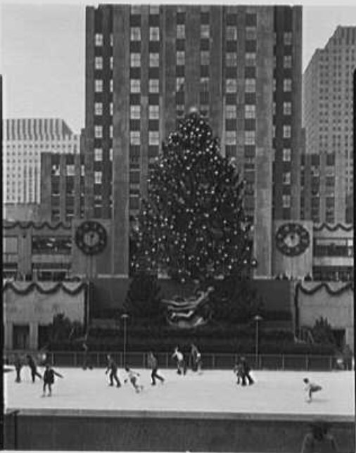 skaters and christmas tree 1943 Gottscho Schleisner