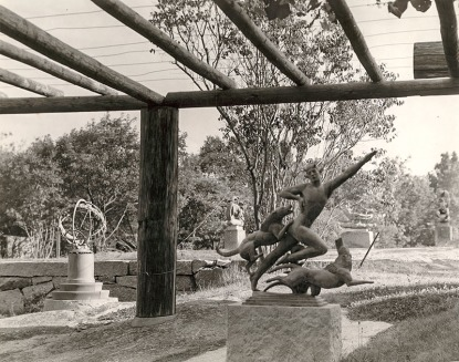View from Manship Estate, sculpture by Paul Manship; photo from P.Manship family papers