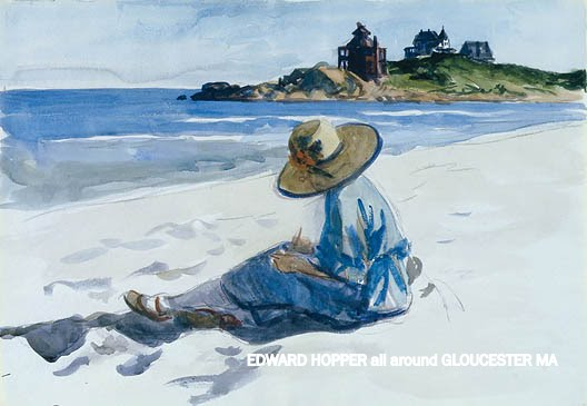 watercolor Jo sketching collection Whitney Museum- more than 110+ Edward Hopper all Around Gloucester