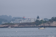 American Constellation American Cruise LinesTen Pound Island Lighthouse Gloucester MA copyright Kim Smith
