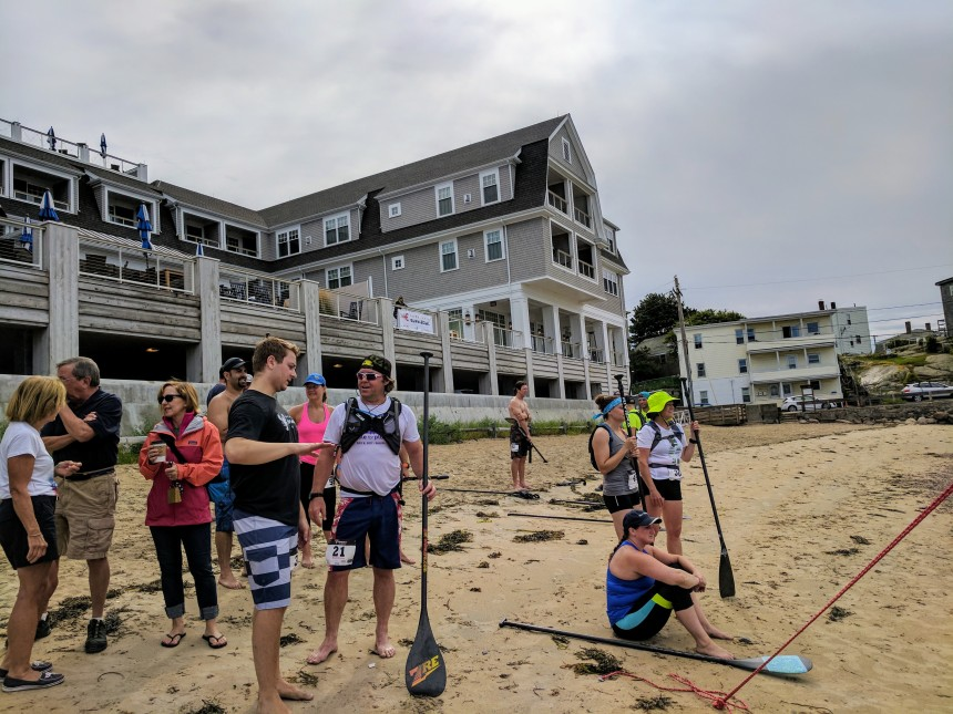 Beauport Hotel Pavilion Beach Gloucester MA racers finished awaiting competitors from the rest of the course