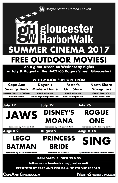 HarborWalk Summer Cinema 2017 poster