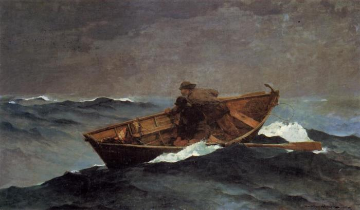 Winslow Homer Lost on the Grand Banks 1885