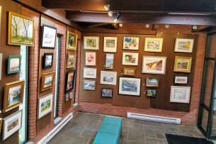 Sawyer Free 2017 Annual Art Auction Installation shot