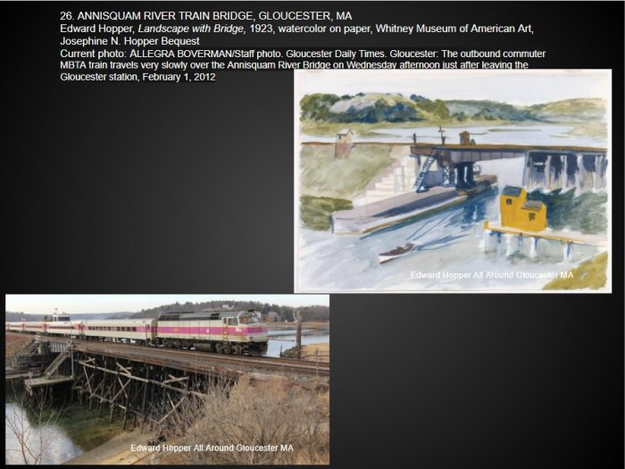 Catherine Ryan identifying Edward Hopper Annisquam River Bridge