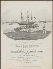 FHL sheet music cover for a yankee ship and a yankee crew 1865 litho