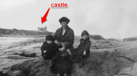 film set castle on salt island good harbor beach gloucester ma- Mary McAvoy with sons