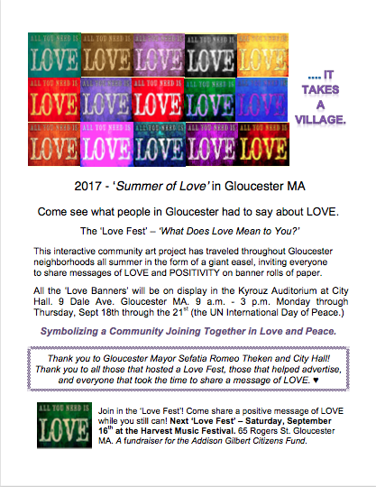 Flyer Love Fest Display at City Hall 9.18 through 9.21 Gloucester MA.png