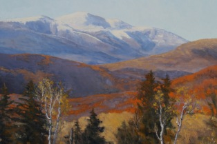 "Change of Season, Mount Washington. Oil on linen, 30"" x 26"""