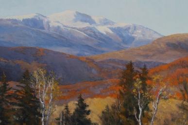 "Change of Season, Mount Washington. Oil on linen, 30"" x 26"""