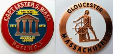 Legion coin 100th commemorative front and verso