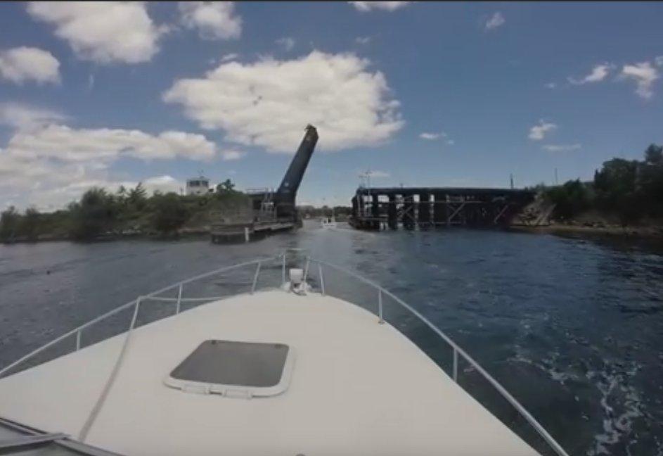 still from youtube video mikejudd65 Annisquam river train bridge gloucester ma