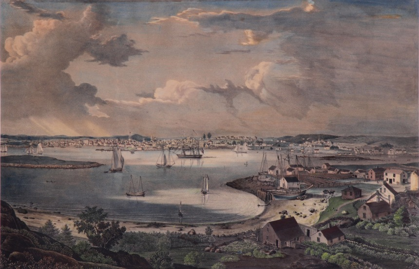 006_View of the Town of Gloucester 1836